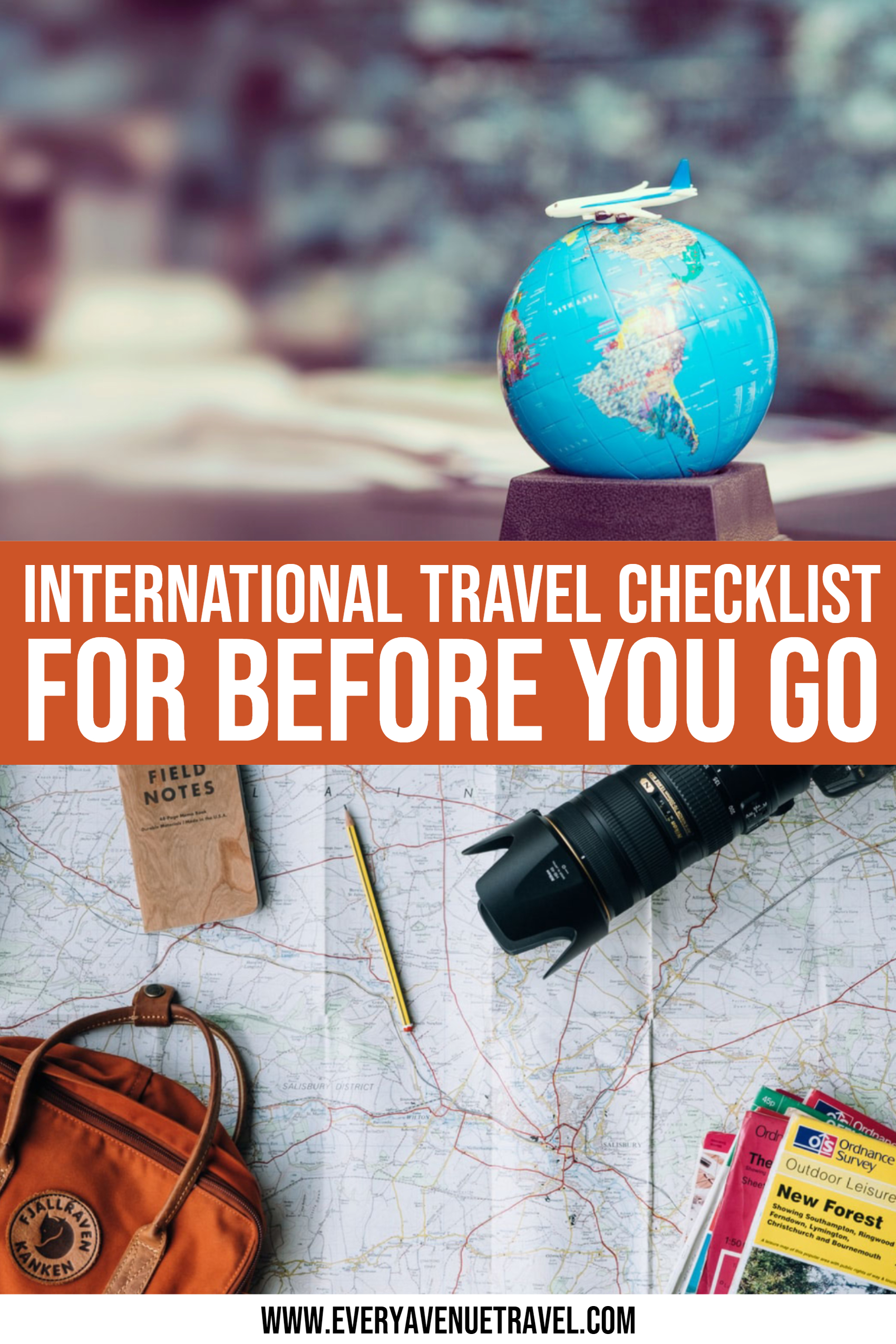 International Travel Checklist For Before You Go!
