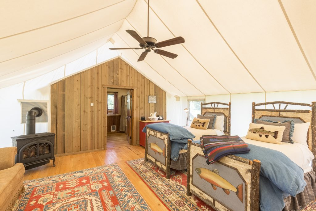 TRRC Grayling Family Glamping Cabin Interior